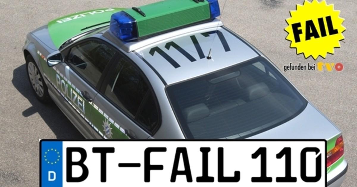 bayreuth besoffener klaut kennzeichen vom polizeiauto. Black Bedroom Furniture Sets. Home Design Ideas