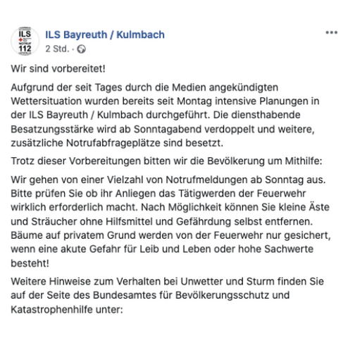 © Facebook / ILS Bayreuth / Kulmbach