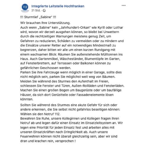 © Facebook / ILS Hochfranken