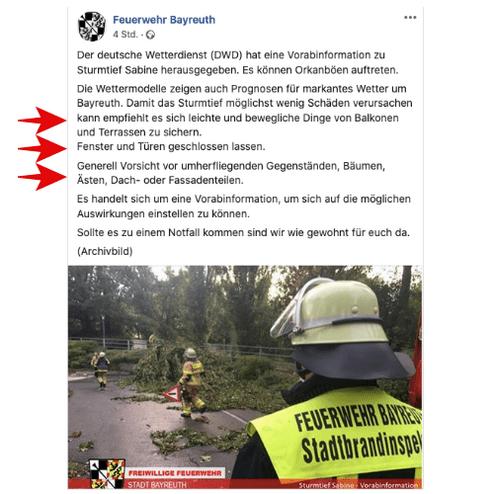 © Facebook / @feuerwehr.bayreuth