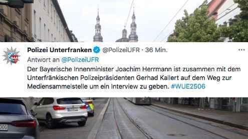 © TV Mainfranken / Twitter: PolizeiUFR
