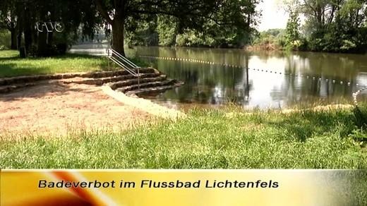 Flussbad Lichtenfels Badeverbot Wegen