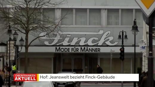 412a89811f79c April 2019 17 16 Das sächsische Unternehmen Jeanswelt will in die Räume des  ehemaligen Hofer Modehauses Finck einziehen. Noch im Mai soll der Leerstand  des ...