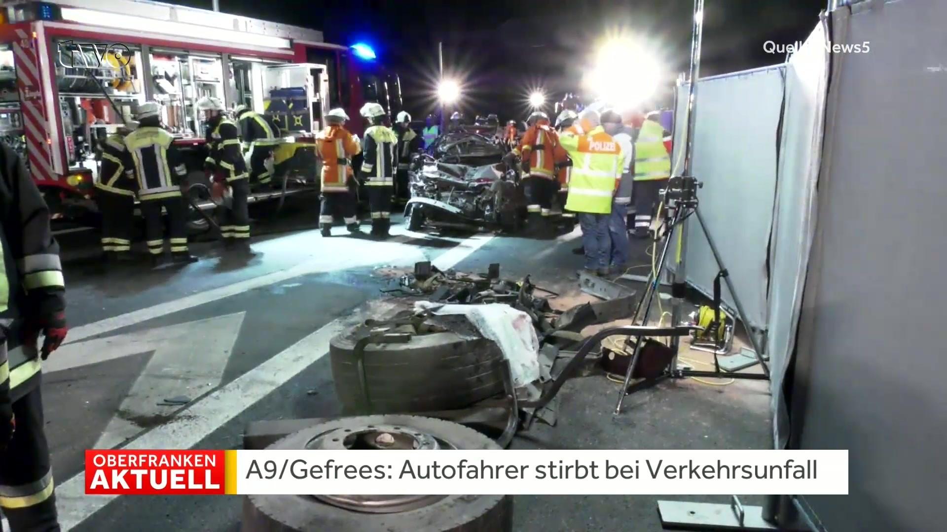 Gefrees Autofahrer Stirbt Bei Verkehrsunfall Auf Der A9 Tvode